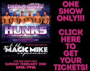 Dream Girls Wilkes-Barre - HUNKS THE SHOW 2/2/2020 ONE SHOW ONLY- $20 Per Person