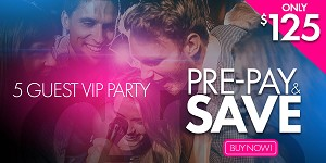 Cat's Meow Las Vegas - $125 5-GUEST VIP PARTY PRE-PAY