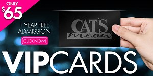 Cat's Meow Las Vegas - $65 One Year FREE Admission VIP Card